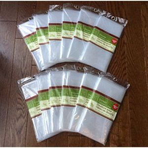 12 Clear Shower Curtain Liners Magnetic Mildew Res